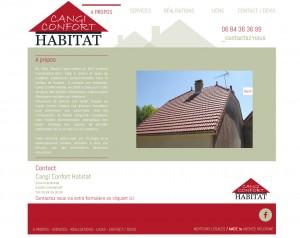 Site Internet Cangi Confort Habitat