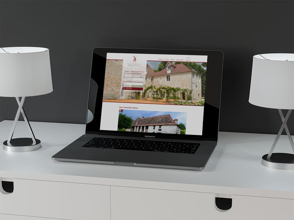 Site internet de l'Agence Immobilière de Haute-Champagne