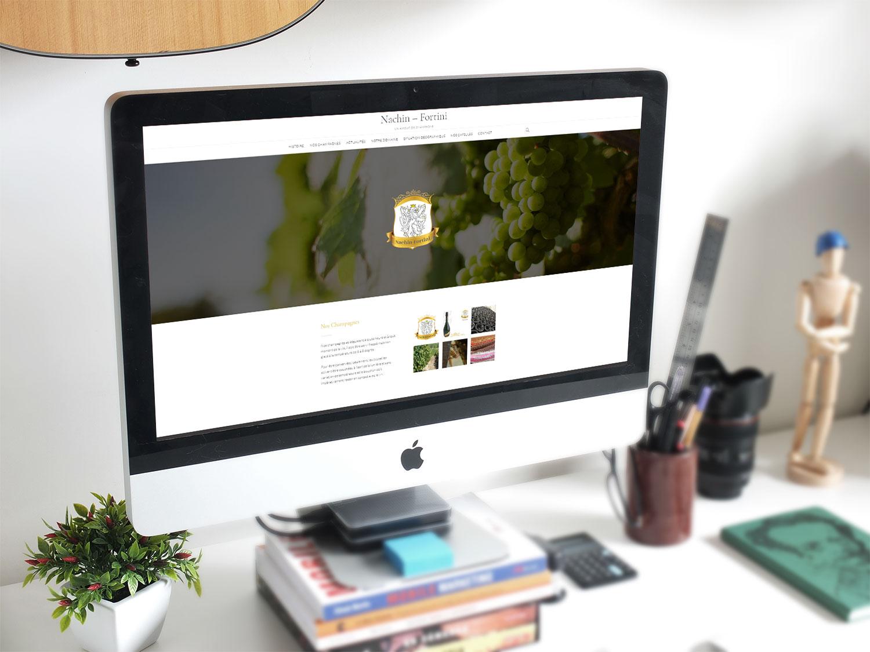 Site Internet de la Maison de Champagne Nachin-Fortini